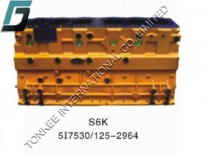 CAT S6K CYLINDER BLOCK, S6K CYLINDER BODY, 5I7530, 125-2964