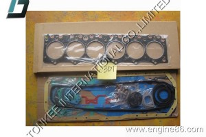 ISUZU 6BD1 OVERHAUL GASKET KIT, 6BD1 GASKET KIT