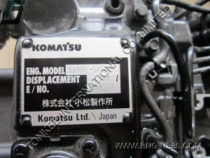 KOMATSU 3D88E ENGINE ASSY, 3D88E-5PBAC ENGINE ASSY, 3D88 engine