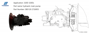 brand new heavy equipment replacement parts HANDOK SBS120 2726955 hydraulic piston pump 320D 320DL hydraulic excavator main pump group suitable for CAT